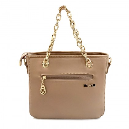 VERN'S Ladies PU Leather Chain Handle Bag - B02038910