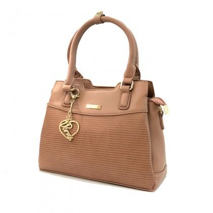 VERN'S Ladies Top Handle Crossbody PU Leather Shoulder Bag - B04044410