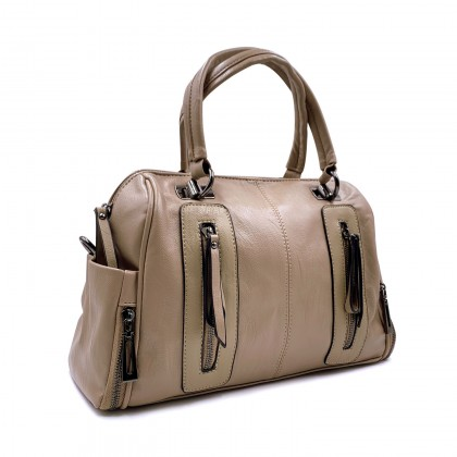 VERN'S Double Handle PU Handbag - B03037910