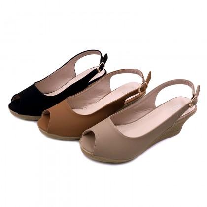 VERN'S Slingback Peep Toe Wedge - S19015610