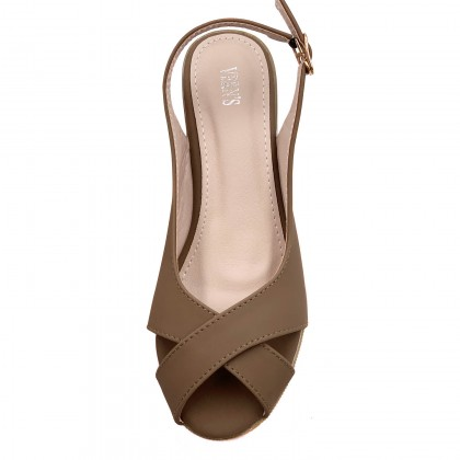 VERN'S Slingback Peep Toe Wedge - S19015810